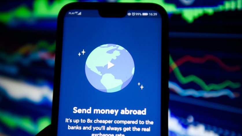 test transferwise sur smartphone